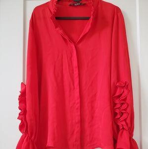 Beautiful new Zara red shirt